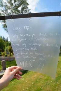 Was Martin seinem toten Opa wünscht